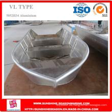 Barco de aluminio duradero de 5,8 m para pescar con certificado ISO (VL19)