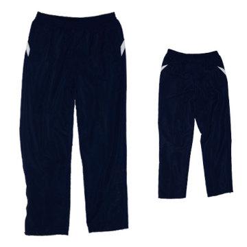 Yj-3006 Lined Blue Microfiber Sports Pants Sweatpants for Men