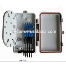 Carcasa de plástico 8 puertos 16 puertos FTTH caja de terminales con coleta