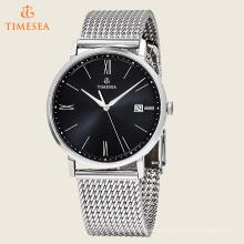 Reloj de moda con corchete de metal de acero correa de malla de pulsera Watches72560