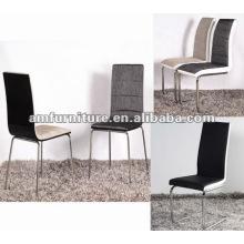 AM-C165 Silla de comedor con asiento y respaldo de tela y patas cromadas