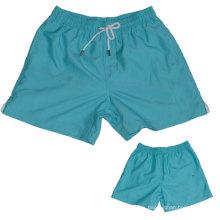 Yj-3008 pantalones de ejercicio de microfibra azul para hombre