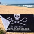 soft textile jacquard design adults black sea shepherd Beach Towel BT-144