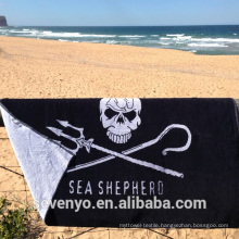 soft textile jacquard design adults black sea shepherd Beach Towel BT-144