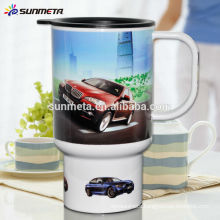 polymer sublimation mugs ,sublimation plastic car mug