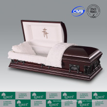 Placage merisier cercueil vente chaude