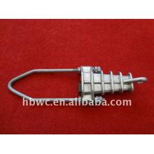 équipement de câble, pince de contrainte en aluminium