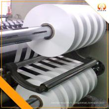 Film de polyester blanc de 45 mm de large pour bande de test de glucose sanguin