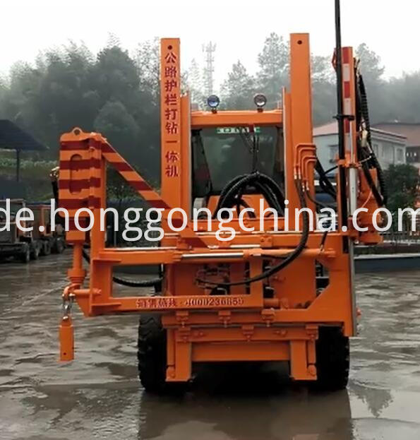 Road Barriers Install Machine