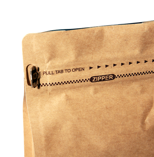 Kraft Paper Pocket Zipper Box Pouch