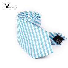 Cravate faite sur commande de cravate de tricot de coupe d'équipage de polyester faite sur commande en Chine