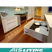 Mobília modular dos armários de cozinha do armazenamento da madeira compensada da laca (AIS-K756)