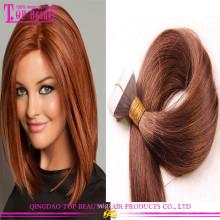 Cabelo reto da fita da cor 6 da extensão do cabelo da fita de cabelo de Remy de seda