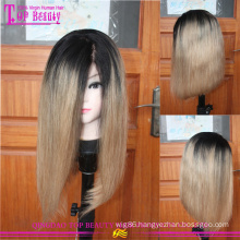 Very soft strong unprocessed full lace virgin european 14inch #1b/27 bob wigs for black women