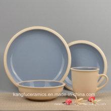 Ensemble de vaisselle écologique en grès coloré