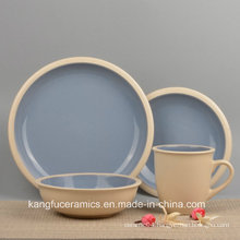 Eco Friendly Colored Stoneware Dinnerware Set
