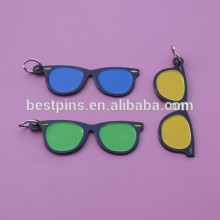 fashion cool sunglass key rings for keychains without logo