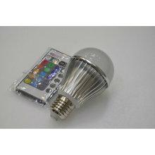 e27 3w rgb led bulb remote control 100-240v