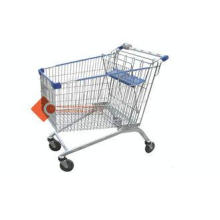 Lightweight Wire Metal Supermarket Shopping Cart For Grocer