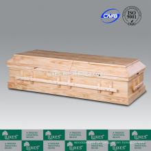 Caixão de cremação de madeira sólida LUXES para Funeral