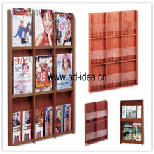 Wooden Display Rack/Exhibition for Book, Magazine