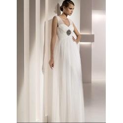 Платье из атласного переплетения без бретелек длиной до пола, тюлевое бисероплетение, облегающее свадебное платье