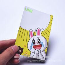 custom made cute rabbit design kids paper fridge magnets& magnet fridge