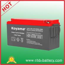 Batterie électrique du véhicule 12V 150ah pour les camions hybrides électriques