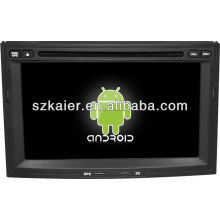 Android System lecteur dvd de voiture pour Peugeot 3008 avec GPS, Bluetooth, 3G, ipod, jeux, double zone, contrôle du volant
