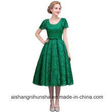 Women Lace Tea-Length Evening Dress Prom Dresses Party Dresses