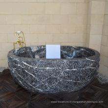Nouvelle conception de haute qualité salle de bain autoportante baignoire en marbre