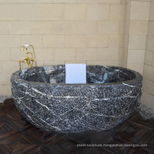New Design high quality washroom free standing marble bathtub