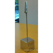 Cuadrado promocional oficina de escritorio de regalo metal clip de papel Namecard (f6005)
