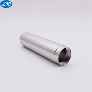 CNC turning steel hollow threaded steel microphone tube