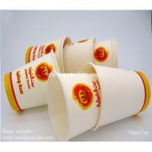 Copas de papel desechables de café de venta caliente