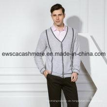 Leichter gestreifter reiner Kaschmir-Pullover für Herren