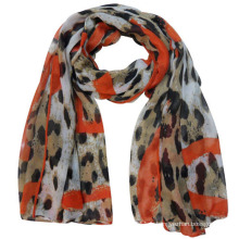 Écharpe de voile de polyester de mode des femmes (YKY4222)