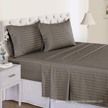 500TC Organic Cotton Sateen Stripe Sheet