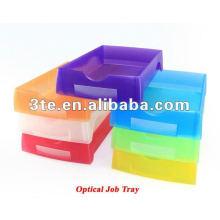 Bandeja plástica de trabajo plana Bandeja de laboratorio óptica