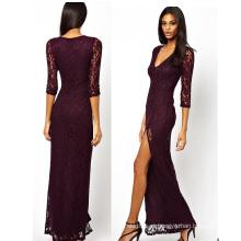 OEM Mulheres Roupas Novas Chegada Long Sleeve Mulheres Lace Dress