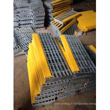 Caillebotis en acier mécanosoudé galvanisé pour l'industrie du plancher et couverture de Drain
