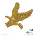 Customized Eagle Logo and Shape Die Struck Metal Blank Lapel Pin