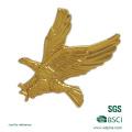 O logotipo e a forma personalizados de Eagle morrem pino golpeado da lapela da placa do metal