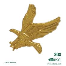 El logotipo y la forma adaptados de Eagle mueren golpearon el Pin de la solapa en blanco del metal