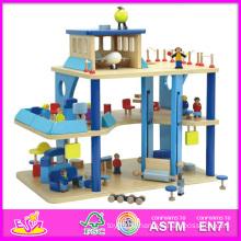 2014 neue Nette Kinder Holz Kinder Flughafen Spielzeug, Beliebte Pretend Kinder Spielzeug Holzspielzeug, Heißer Verkauf Rolle Spielen Holz Baby Kinder Spielzeug W06A040