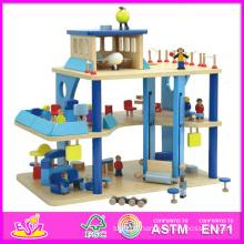 2014 nouveau jouet mignon en bois enfants aéroport jouet, jouet de jouet en bois enfants prétendre populaire, jeu de rôle vente chaude en bois bébé enfants jouet w06a040