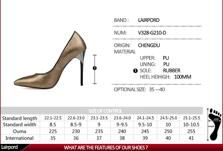 high heel elegant wrapping gold ladies shoes