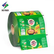 Empaque flexible de plástico rollo de película para merienda