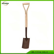 Garden Tools Carbon Steel Border Spade Digging Shovel