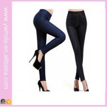 Alta Qualidade Plus Size Moda Feminina Peles Quentes De Espessura Calças Justas De Jeans Grossas (14348)